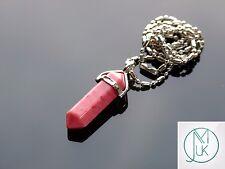 La Rhodonite Crystal Point Ciondolo Naturale pietra preziosa collana guarigione pietra chakra