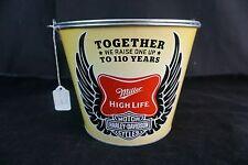 Vintage Harley-Davidson Miller High Life Beer Bucket 110 Years Scarce