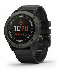 Garmin Fenix 6X Pro 51mm Case with Silicone Band GPS Running Watch - Titanium Carbon Grey Bezel
