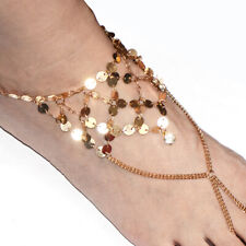 Foot Bracelet Gold Toe Ring Barefoot Ankelts For Women Girl Summer Jewelry