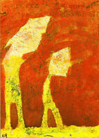 in an alternative universe where ... e9Art ACEO Abstract Figurative Outsider Art