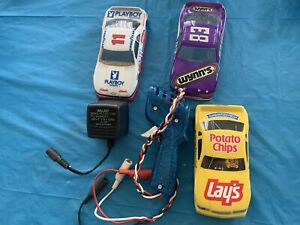 1 PARMA SLOT CAR CHASIS WITH 3 COVERS & 1 CONTROLLER USED SOLID SHAPE