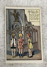 Vintage Postcard Of Brussels Cartoon