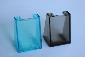 1x LEGO Windscreen Window 3x4x4 Inverted Trans Light Blue or Black 72475