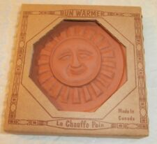 "NEW SUN Bun Warmer Hot Plate BREAD Warmer Pottery 5"" Le Chauffe Pain. Canada"