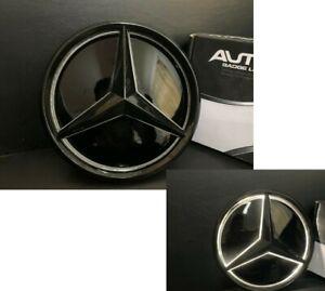 Illuminated Led White Light Grille Logo Badge Emblem For Mercedes-Benz 2011-2018