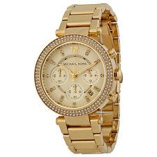 Michael Kors Parker MK-5354, Parker Yellow Gold Chronograph Watch for Women