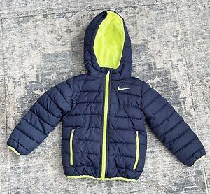 4T Toddler Boy Girl NIKE Winter Coat Full Zip Hood Navy Blue