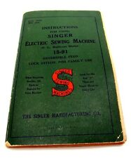 Vintage Singer 15-91 Electric Sewing Machine Instruction Manual Book