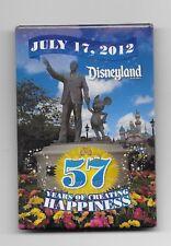 Walt Disney & Mickey Partners 57 Years July 17, 2012 Dlr Castle Cast Button Pin