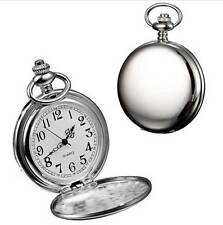 Fob Pocket Watch on chain - Quart Movement - Gift Pouch - UK Seller