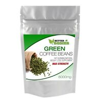 60 Green Coffee Bean Capsules Extract HIGH STRONG MAX Strength 6000mg Diet Pills