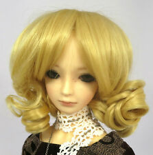 Doll Wig Short Ringlets Golden Blonde BJD Ball Jointed Size 7, 8, 9, 10 NEW