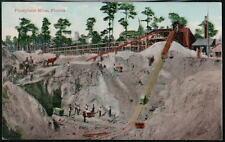 FLORIDA FL Phosphate Mine Horse & Buggy Vtg Postcard
