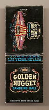Las Vegas Golden Nugget Gambling Hall Casino Nevada Vintage 20 Strike Matchbook