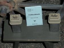 "1:6 scale WW II German Cook's ""SALT-PEPPER-COOKBOOK"" set"
