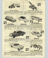 1954  Paper Ad Tru-Miniature Corvette Revell Model Jaguar Counter Merchandiser
