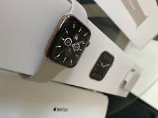 Apple Watch Series 5 GPS Cellular 44mm Gold Stainless Steel Case Stone Sportband