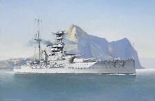 More details for hms warspite royal navy battleship gibraltar painting art print - 17