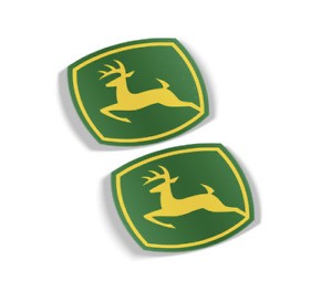 JOHN DEERE DECAL, VINYL STICKER,  (SET OF 2) FREE SHIPPING