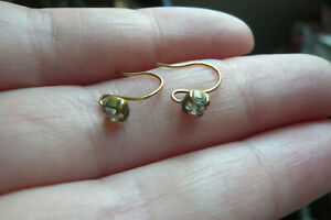 Victorian Paste and 9 Carat Gold Earrings
