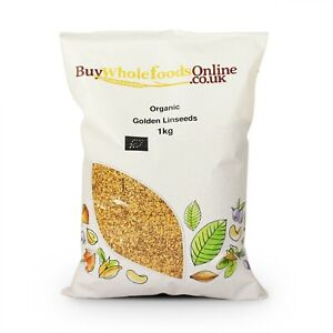 Organic Golden Linseed 1kg   Buy Whole Foods Online   Free UK Mainland P&P