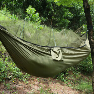 Double Person Camping Hammock with Mosquito Net Nylon Tent Hanging Bed Outdoor
