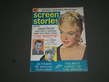 1961 MAY SCREEN STORIES MAGAZINE - MARILYN MONROE & CLARK GABLE COVER - SP 7526