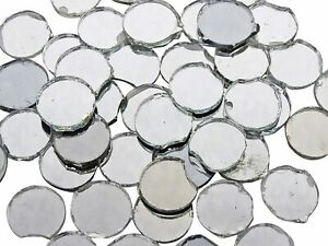 200 Pcs Mini Craft Mirror Round Shape Art Decorative Mosaic Tiles DIY Used MR22