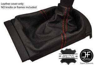 RED STITCHING FITS SEAT IBIZA MK3 2002-2008 SHIFT BOOT 100% GENUINE LEATHER