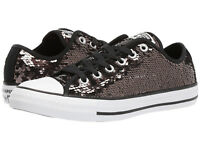 Womens Converse All Star OX Shoes Sneakers Gunmetal Black 557988C Sz 6.5 NIB