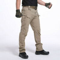 Mens Waterproof Tactical Windproof Trousers Outdoor Hiking Combat Sports Pants