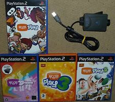 EYE TOY PLAY 1 2 3 GROOVE + OFFICIAL USB EYETOY CAMERA SONY PLAYSTATION 2 PS2