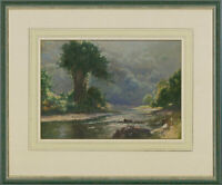 A.M. Gowland - Framed 1948 Watercolour, The Ebb and Flow