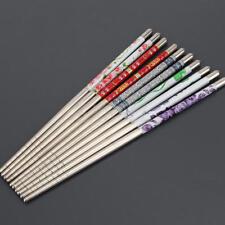 5 Pair Baguettes Chopsticks inox Chinois Cadeau Ustensile Cuisine Art de table