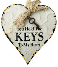 Gorgeous Words You Hold The Keys To My Heart Tin  Sign Wall Art ~ Wedding