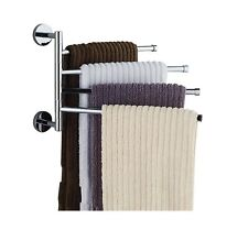 Bekith 16 inch Wall-Mounted Stainless Steel Swivel Bars Bathroom Towel Rack H.