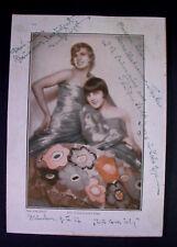Inge & Lolo EPP - Revuegirls / Stripperinnen Roaring 20ies - Autogramme 1927