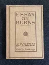 Antique Book 1903 Essay On Burns By Carlyle