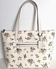 NWT Coach 87458 Prairie Taylor Tote PVC handbag Flower Print Chalk multi