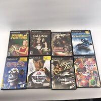 (8) PS2 Game Lot: Crazy Frog, Dynasty Warriors, Bakugan (Sony PlayStation 2)