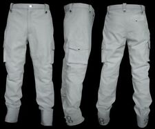 DISCOUNTED 34 SIZE MENS WHITE THICK LEATHER CARGO CASUAL MOTORCYCLE PANT D-22
