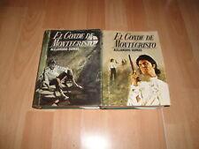 EL CONDE DE MONTECRISTO PRIMERA EDICION DEL AÑO 1968 CON 2 LIBROS EDIC. VERTICE