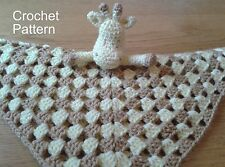 Crochet Pattern for Giraffe Security Blanket Baby Lovey by Peach Unicorn
