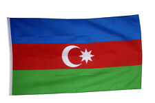 Azerbaijan Flag Large 5 x 3 FT - 100% Polyester With Eyelets - National Country