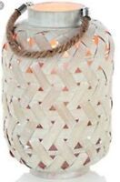 Bamboo Lantern Candle Holder Home Patio Garden Rope Handle Round Premier 40cm