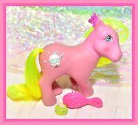 ❤️My Little Pony MLP G1 VTG Sundae Best Crunch Berry 3D Symbol Cherry Berry❤️
