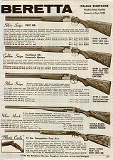 1968 ADVERT Beretta Silver Snipe Golden Hawk Italian Shotgun Monte Carlo