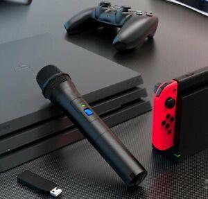 Wireless Microphone Karaoke MIC For Switch PS5 PS4 Xbox One Wii U PC Game HAU