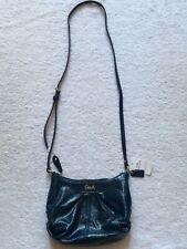 Coach Ashley  #F46872, Patent Blue Crossbody/ Shoulder Handbag, BRAND NEW